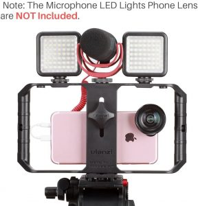 Accesorios para iPhone camara de video lentes zoom luces led